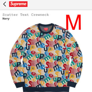 Supreme - supreme text crew neck Mサイズ新品未開封!