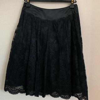 ユナイテッドアローズ(UNITED ARROWS)のユナイテッドアローズ スカート ブラック(ひざ丈スカート)