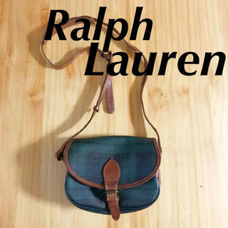 Ralph Lauren - ポロラルフローレン ポシェット 鞄 ブライドルレザー ブラックウォッチ柄