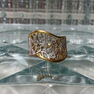 ★1点物★ AAAA級 CZダイヤモンド ゴールド 17号 リング 指輪(リング(指輪))