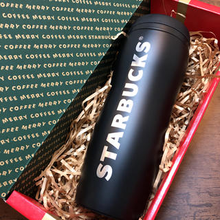 Starbucks Coffee - カーヴドステンレスボトルマットブラック355ml★スターバックス タンブラー