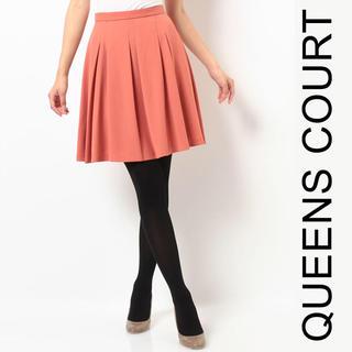 クイーンズコート(QUEENS COURT)の新品 未使用 タグ付き クイーンズコート スカート QUEENS COURT(ひざ丈スカート)
