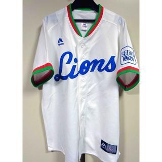 L◆古着1979白Majestic西武ライオンズLIONS復刻ユニフォーム野球