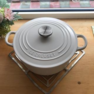ルクルーゼ(LE CREUSET)のル・クルーゼ ココットロンド22cm コットン(鍋/フライパン)
