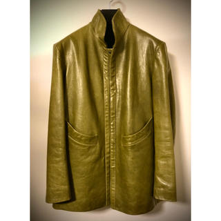 ヨウジヤマモト(Yohji Yamamoto)の【yohji yamamoto leather jkt】size 2 green(レザージャケット)