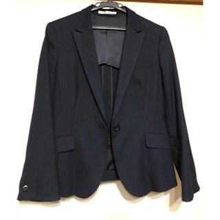 AOKI - AOKI アオキ LES MUSE ストライプネイビースーツ 3点セット