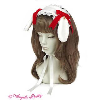 Angelic Pretty - ロップイヤーBunnyヘッドドレス シロ×アカ
