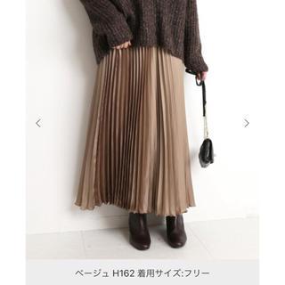 IENA SLOBE - SLOBE IENA サテンプリーツスカート