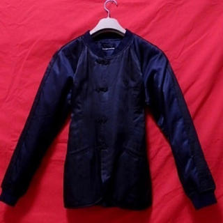 ヒステリックグラマー(HYSTERIC GLAMOUR)のヒステリックグラマー 美タイトジャケット  黒 刺繍 ユニセックス(ナイロンジャケット)