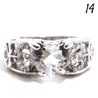 W205 リング 14号 人工石 ホワイトサファイア ハート(リング(指輪))