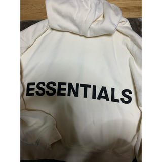 FEAR OF GOD - FOG ESSENTIALS パーカー L オフホワイト