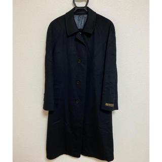 ロロピアーナ(LORO PIANA)の新品 メンズコート ロロピアーナ カシミア100% 袖タグ付き ブラック(ロングコート)