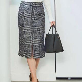 ティティベイト(titivate)のur's グレーチェックタイトスカート(ひざ丈スカート)