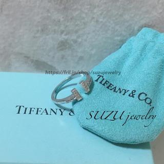 Tiffany & Co. - 大人気❤️ティファニー好き✨T字ワイヤー✨リング✨ホワイトゴールド