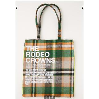 RODEO CROWNS WIDE BOWL - ロデオクラウンズ   トート 柄グリーン