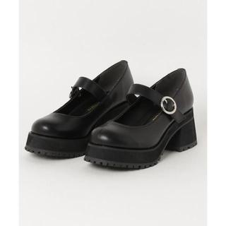 ウィゴー(WEGO)のwego 厚底ストラップシューズ ブラック(ローファー/革靴)