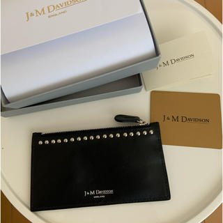 J&M DAVIDSON - J&M Davidson スタッズキーケース キーポーチ ブラック