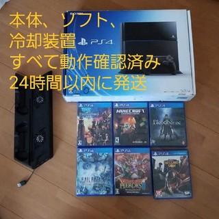 PlayStation4 - ps4本体セット+ソフト6本+usb3つコントローラー2つ充電冷却装置