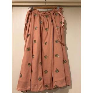 フランシュリッペ(franche lippee)のフランシュリッペ  花束うさぎ刺繍ジャンスカ(ひざ丈スカート)