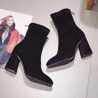 dholic - ブラック 美脚ブーツ
