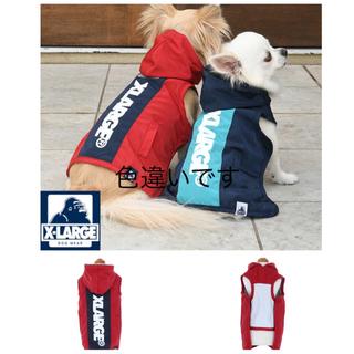 エクストララージ(XLARGE)のX-LARGE フーデッドジャケット DM ダックス  ネイビー(犬)