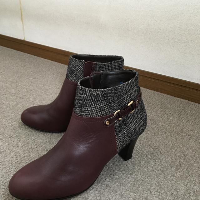 BARCLAY(バークレー)のショートブーツ⭐️ワイン色⭐️新品レザーバークレー2万円相当 レディースの靴/シューズ(ブーティ)の商品写真