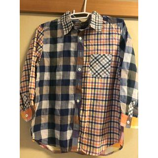 キューブシュガー(CUBE SUGAR)の切り替えしチェックシャツ(シャツ/ブラウス(長袖/七分))