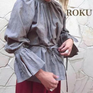 BEAUTY&YOUTH UNITED ARROWS - roku  6  チェック ブラウス