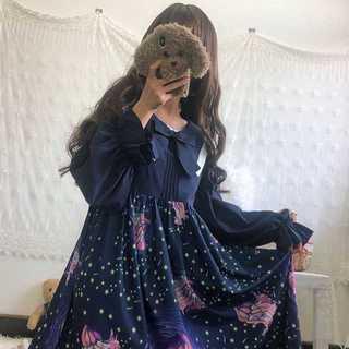 【送料無料】ドレスワンピ レディース春秋 ロリータ星彩虹H-607(ひざ丈ワンピース)