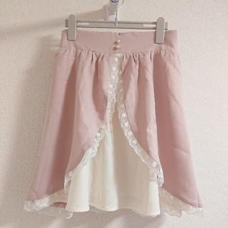 ユメテンボウ(夢展望)のおしゃれレーススカート(ひざ丈スカート)
