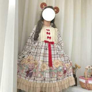 【送料無料】ドレスワンピ レディース春秋 ロリータ姫系9733(ミディアムドレス)