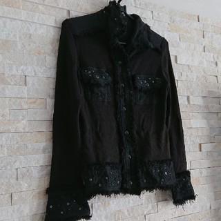 ルスーク(Le souk)のルスーク  ニットジャケット 黒꙳★*゚(ノーカラージャケット)