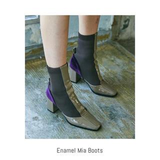 Juemi Enamel Mia Boots BEIGE Lサイズ(ブーツ)
