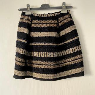 マカフィー(MACPHEE)のMACPHEE★ゴールド×ブラック刺繍スカート(ミニスカート)