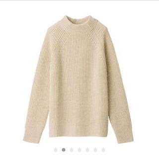 MUJI (無印良品) - ヤク入りウール畦編みモックネックセーター