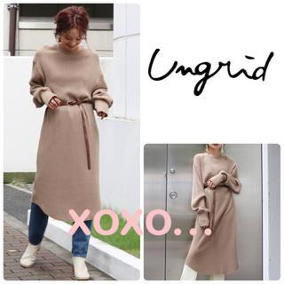 Ungrid - Ungrid ワッフルロングワンピース