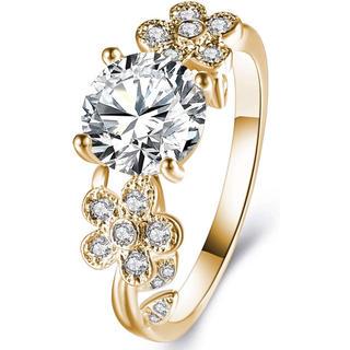 【AAAダイヤモンドCZ】シャンパンゴールド 大人可愛い おしゃれ リング 指輪