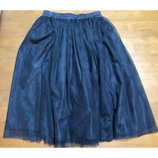 ティティベイト(titivate)のtitivate 膝丈チュールスカート黒 リバーシブル(ひざ丈スカート)