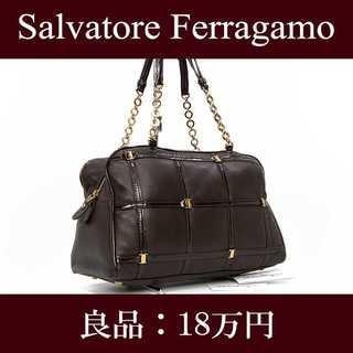 Salvatore Ferragamo - 【限界価格・送料無料・良品】フェラガモ・ショルダーバッグ(ヴァラ・E122)