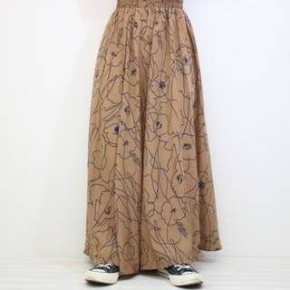 niko and... - 花柄シフォンマキシスカート