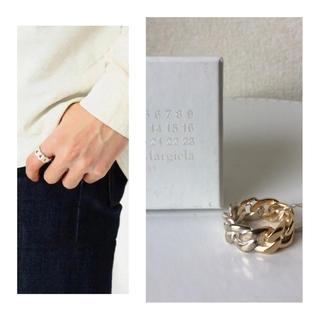 マルタンマルジェラ(Maison Martin Margiela)のマルジェラ 2トーンリング M シルバー925 新品 リング チェーンリング(リング(指輪))