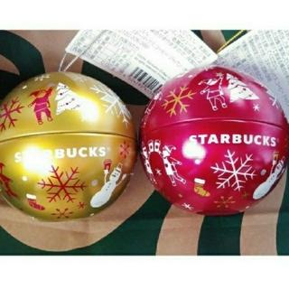 Starbucks Coffee - ★中身なし★ オーナメント 赤&金 2個セット ホワイトチョコレートマシュマロ