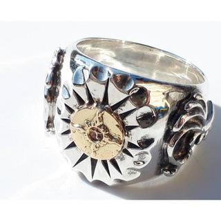 最終※ 未使用 希少 ファーストアローズ K18 印台 リング 指輪 メタル(リング(指輪))