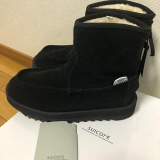 スイコック(suicoke)の新品ムートン ブーツブラック24.5 ユナイテッドアローズ(ブーツ)