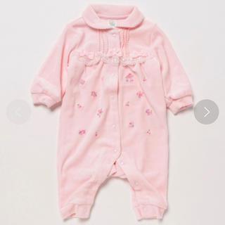 motherways - 【マザウェイズ 】ピンク ロンパース 長袖 ベロア 69㎝ ベビー 幼児