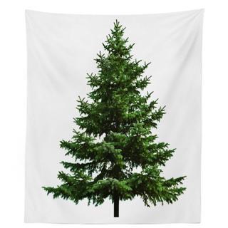 クリスマスタペストリー おしゃれ 素敵なツリー カフェ風