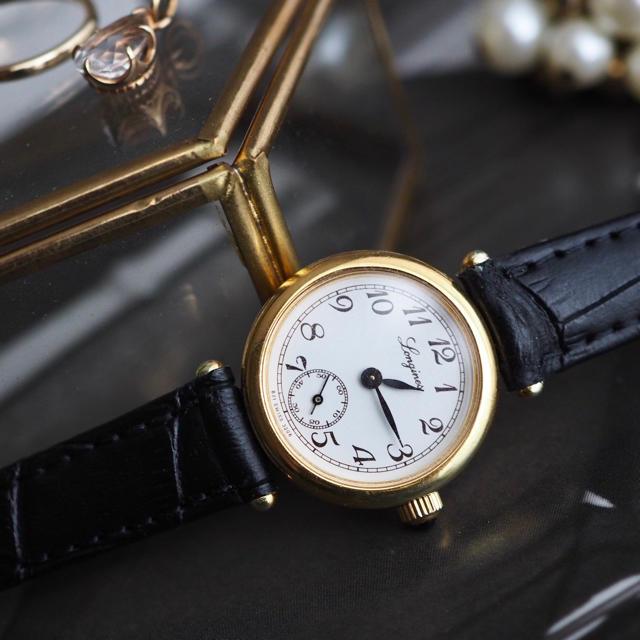 スーパーコピー 時計 ロレックス jfk 、 LONGINES - 全純正・美品 ロンジン 金張り スモセコ付き の通販