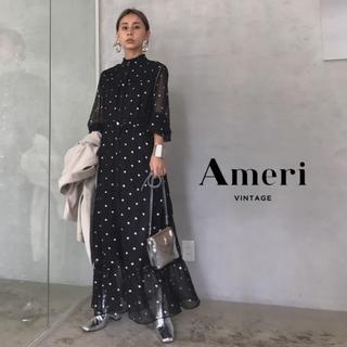 Ameri VINTAGE - 19AW 新品 Ameri SPARKLE DOT DRESS【M】未使用
