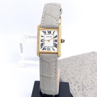 Cartier - 【仕上済/ベルト2色】カルティエ タンク ダイヤ ゴールド レディース 時計