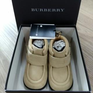 バーバリー(BURBERRY)のBURBERRY 新品箱付き 革ブーツ 13㎝(ブーツ)